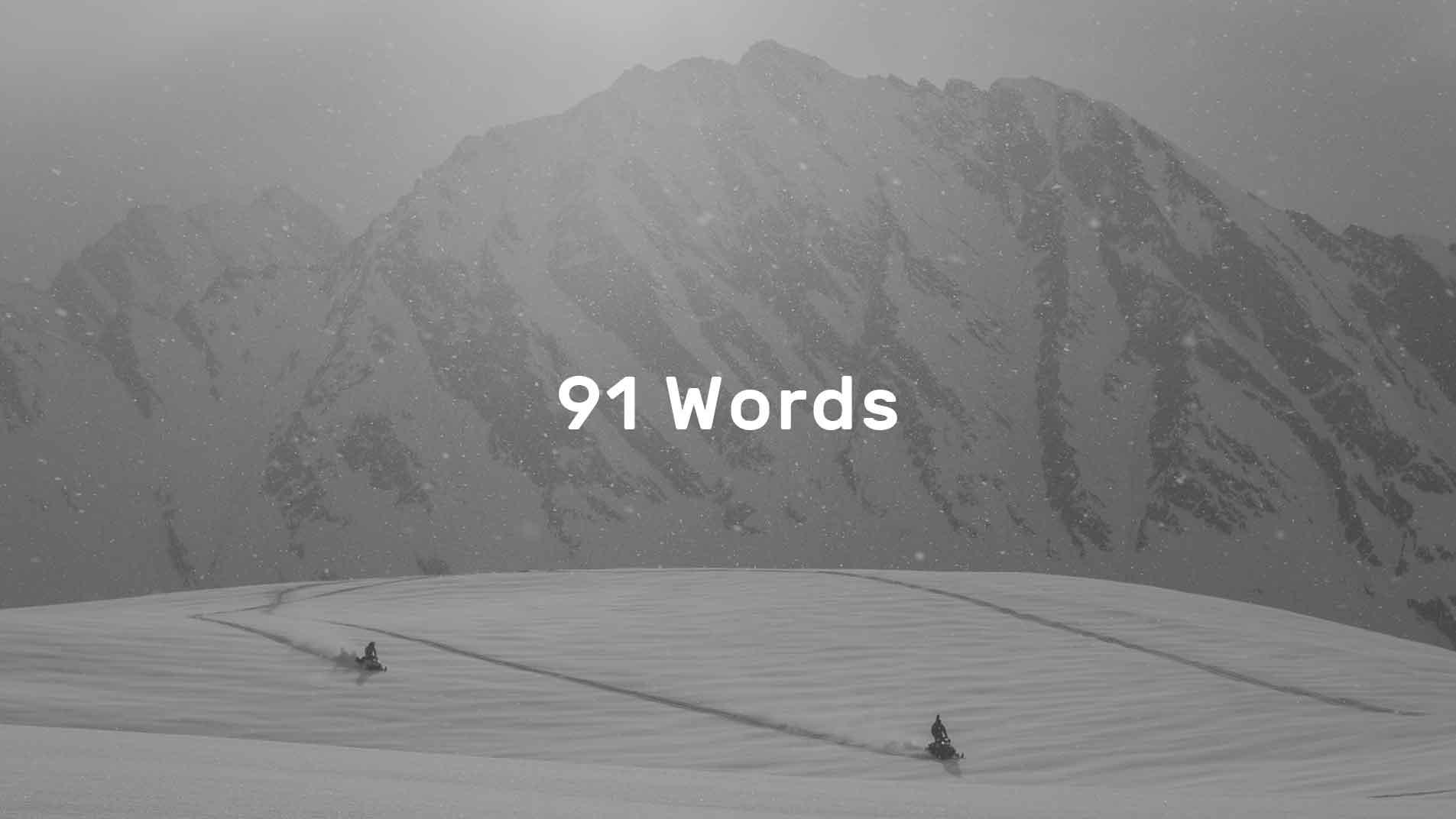 91 Words